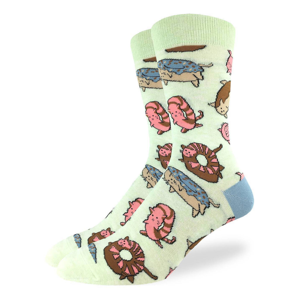 Men's Donut Cats Socks - Shoe Size 7-12
