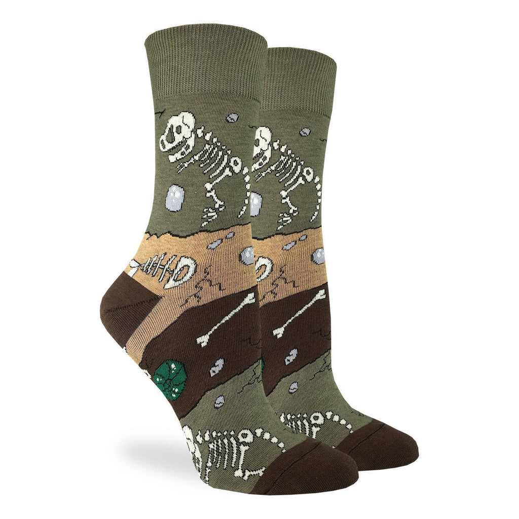 Women's Dinosaur Fossil Layers Socks - Shoe Size 5-9