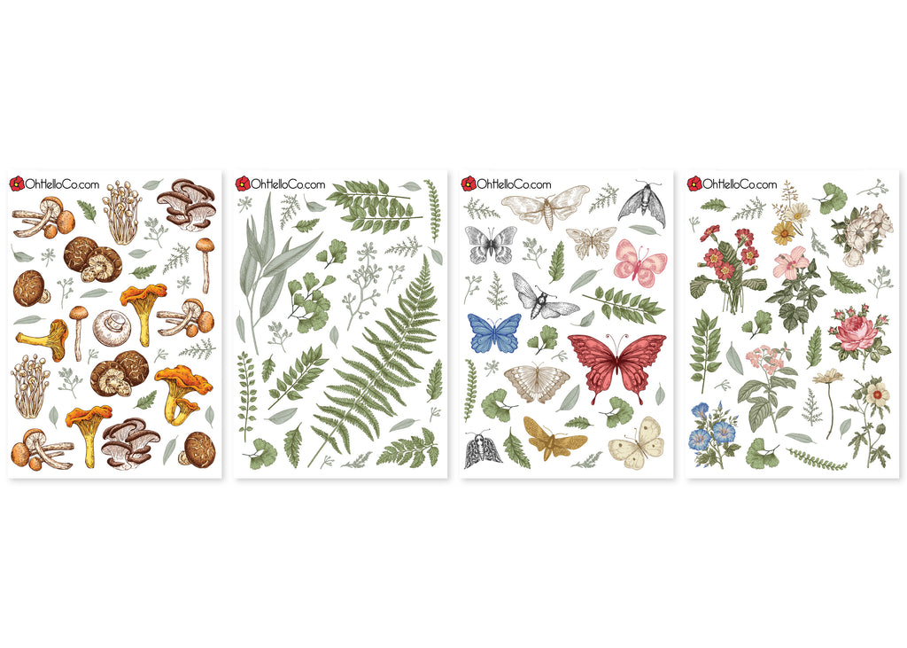 Vintage Botanical Variety Stickers