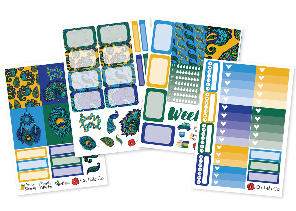 Peacocks Weekly Kit Stickers