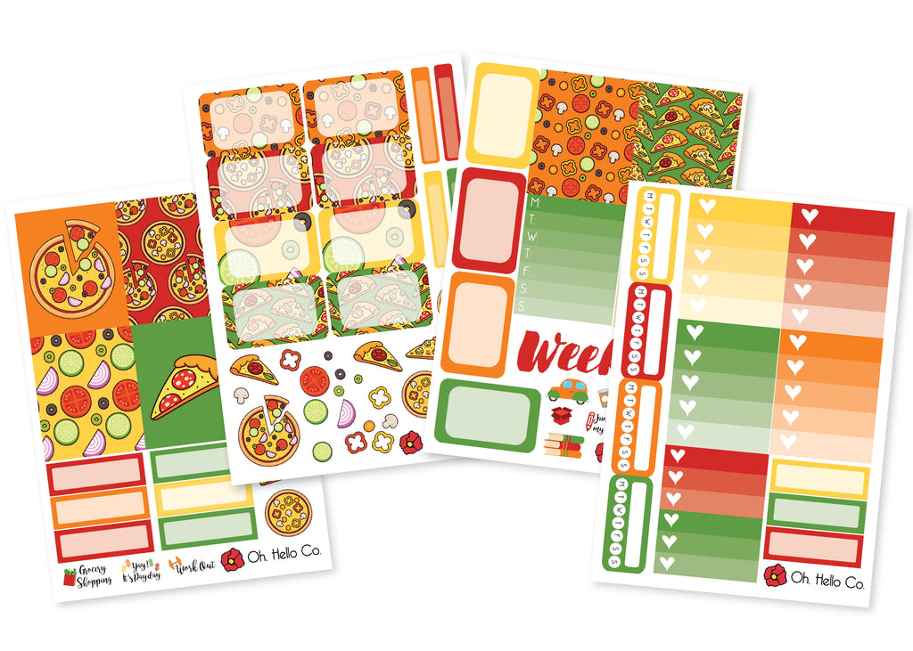 Pizza Weekly Kit Stickers