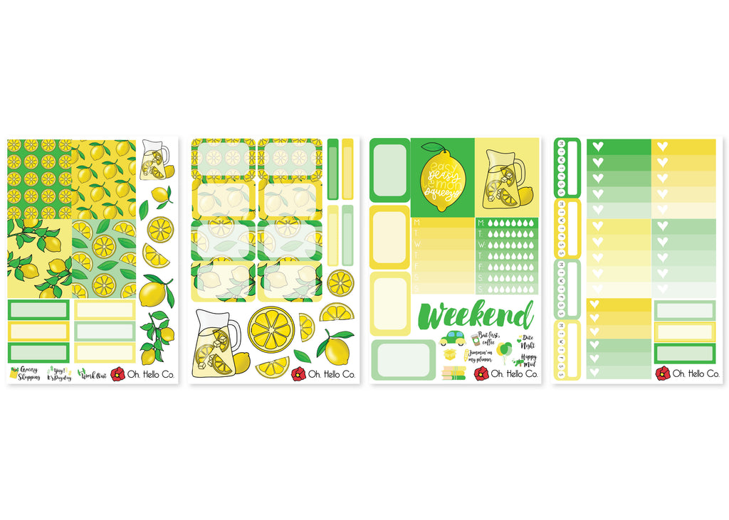 Lemons Weekly Kit Stickers