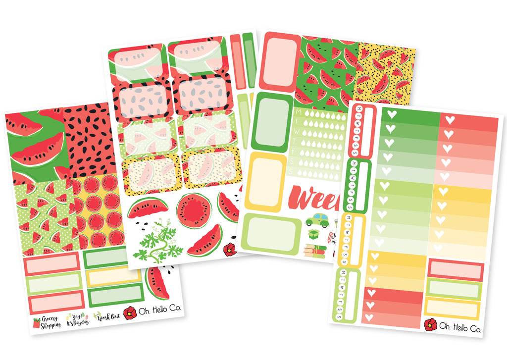 Watermelon Weekly Kit Stickers