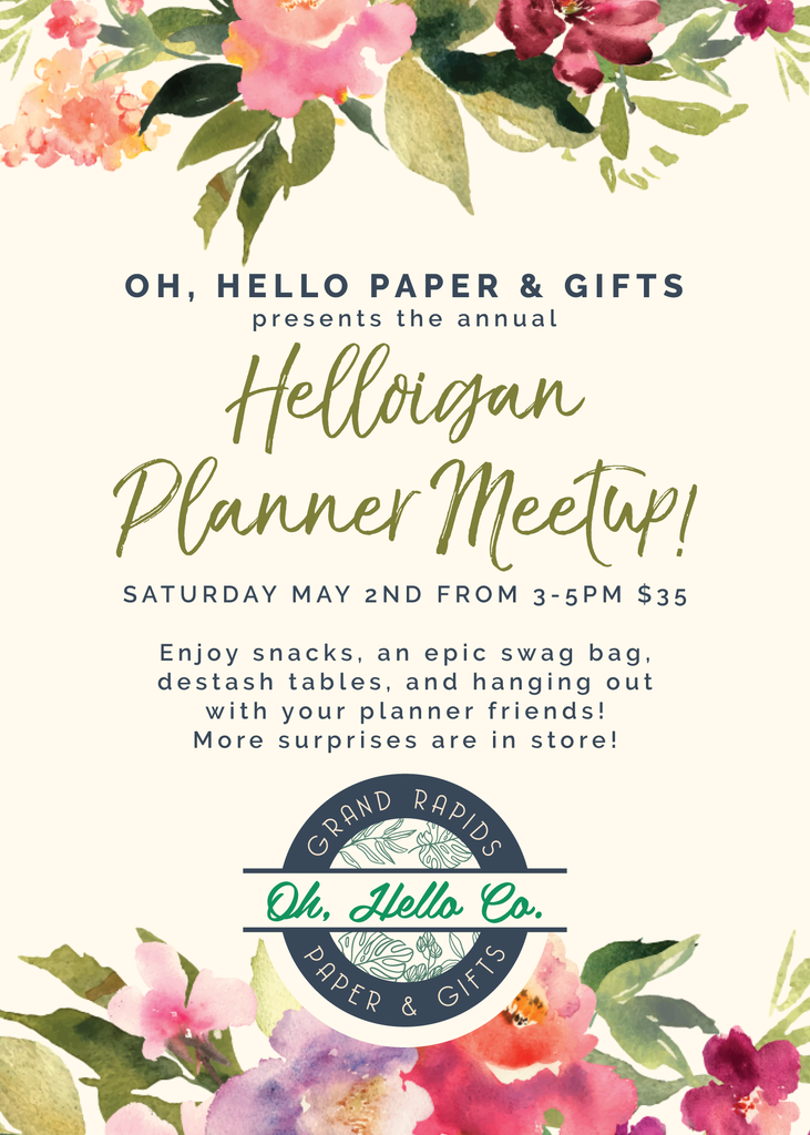 Helloigan Annual Meetup - Oh, Hello Stationery Co. bullet journal Erin Condren stickers scrapbook planner case customized gifts mugs Travlers Notebook unique fun