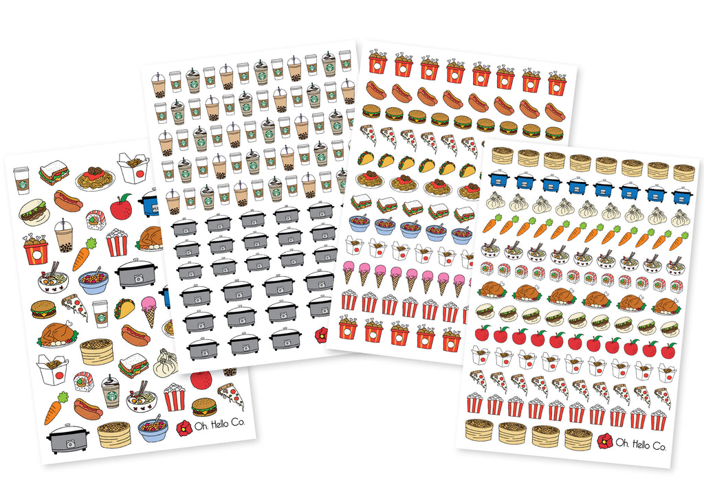 Let's Eat Food Variety Stickers