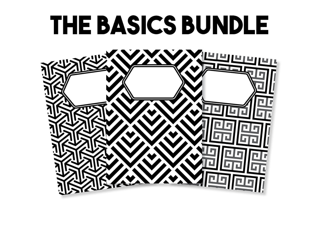 The Basics Bundle (Lined, Dot Grid, Blank) - Traveler's Notebook Inserts - Oh, Hello Stationery Co. bullet journal Erin Condren stickers scrapbook planner case customized gifts mugs Travlers Notebook unique fun