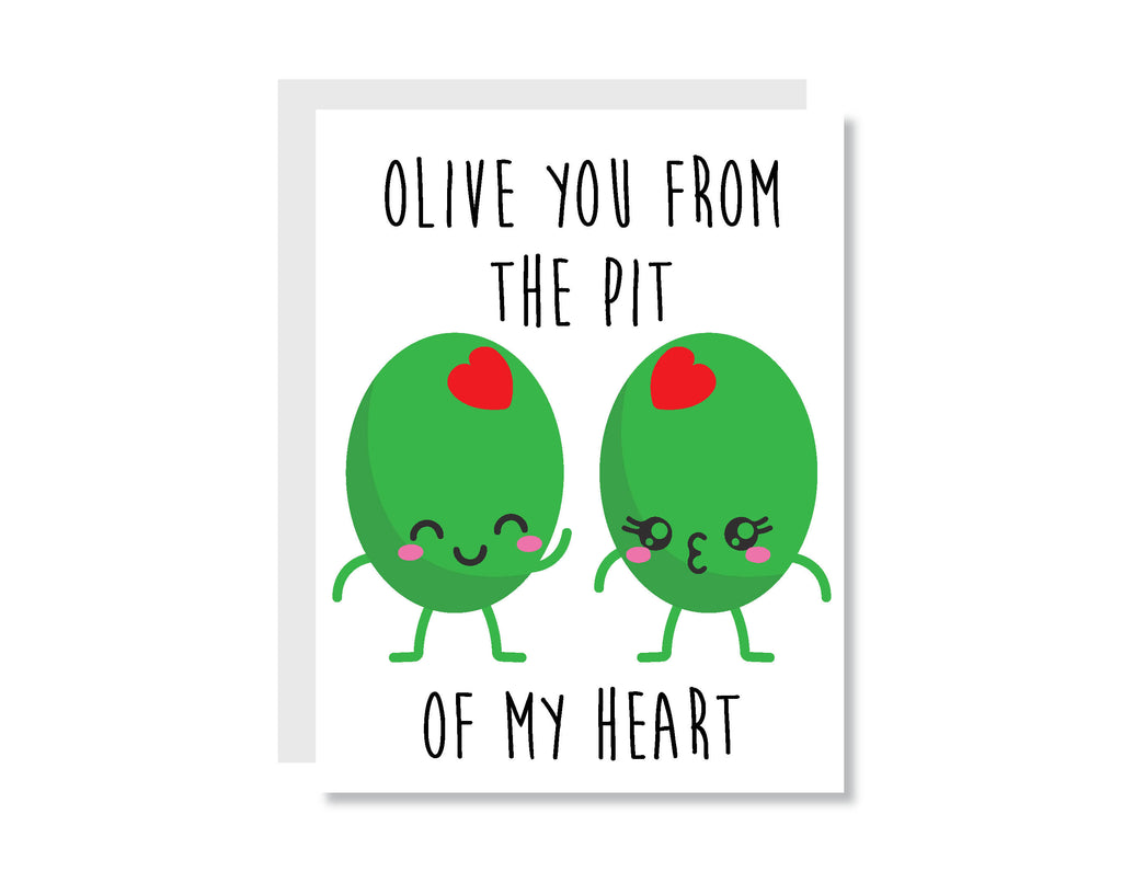 Olive You Greeting Card - CARD129