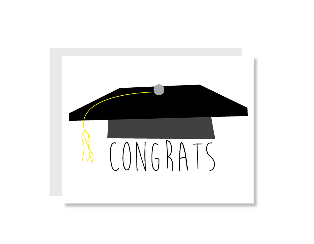 Congratulations Graduate Greeting Card - CARD149 - Oh, Hello Stationery Co. bullet journal Erin Condren stickers scrapbook planner case customized gifts mugs Travlers Notebook unique fun