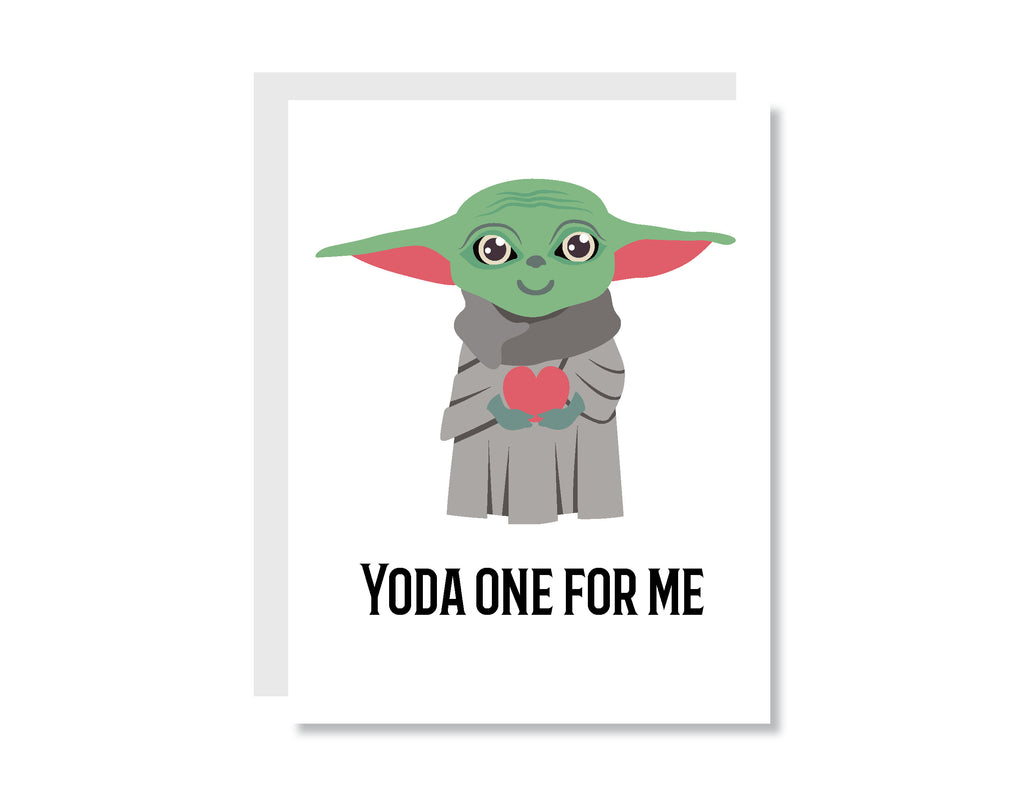 Yoda One for Me Greeting Card - CARD201