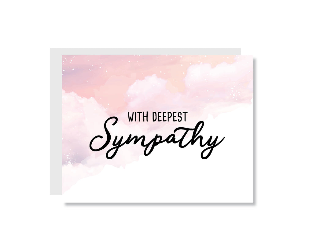 With Deepest Sympathy Greeting Card - CARD212