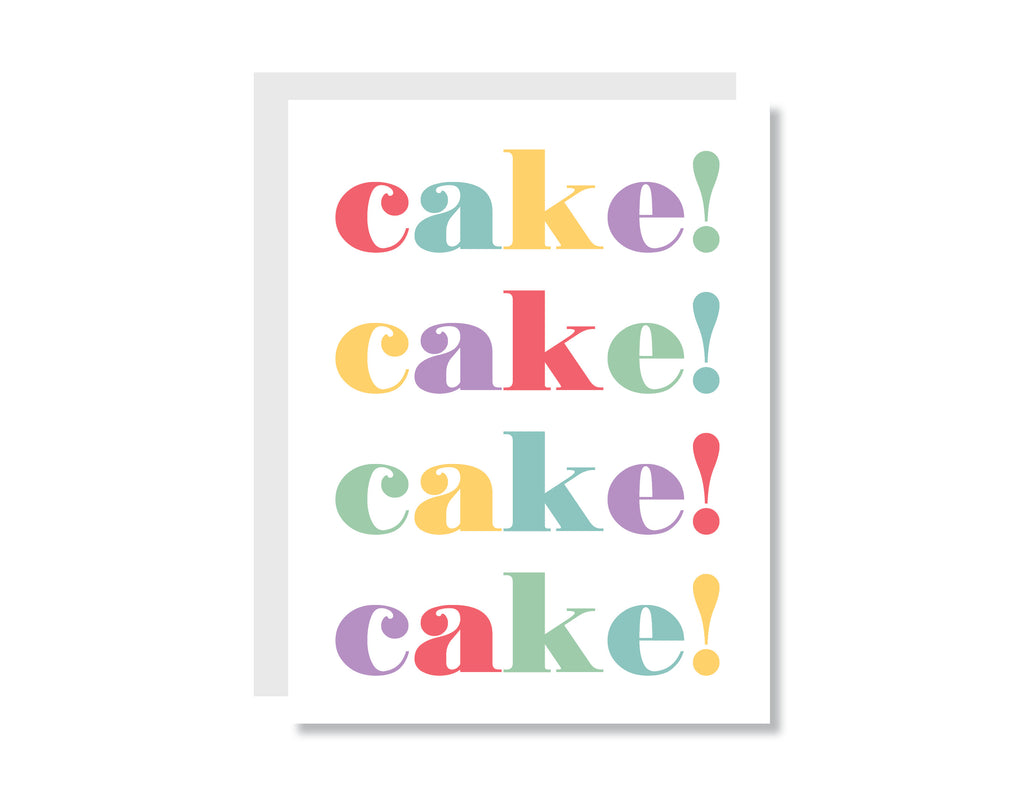 Cake Cake Cake Greeting Card - CARD226