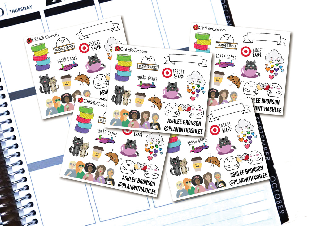 Planner Meetup Contact Cards - Style One - Oh, Hello Stationery Co. bullet journal Erin Condren stickers scrapbook planner case customized gifts mugs Travlers Notebook unique fun