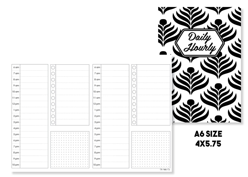 Daily Hourly Traveler's Notebook Insert - Oh, Hello Stationery Co. bullet journal Erin Condren stickers scrapbook planner case customized gifts mugs Travlers Notebook unique fun
