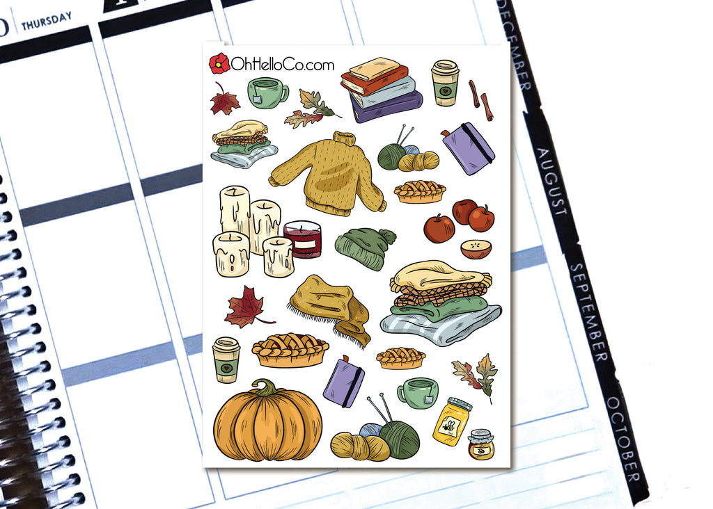 Autumn Doodles - Printable Stickers for the Silhouette