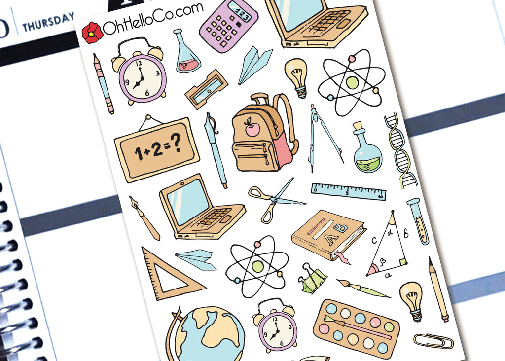 School Doodles - Printable Stickers for the Silhouette