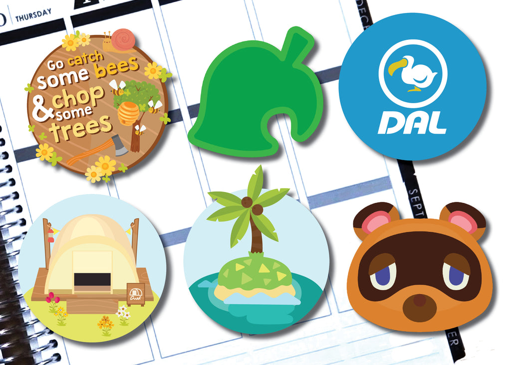 Animal Crossing Inspired Die Cut Stickers - Oh, Hello Stationery Co. bullet journal Erin Condren stickers scrapbook planner case customized gifts mugs Travlers Notebook unique fun