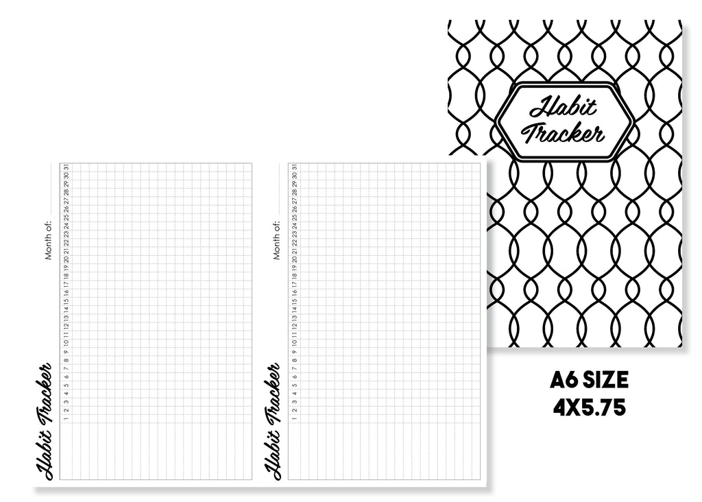 Habit Tracker Traveler's Notebook Insert - Oh, Hello Stationery Co. bullet journal Erin Condren stickers scrapbook planner case customized gifts mugs Travlers Notebook unique fun