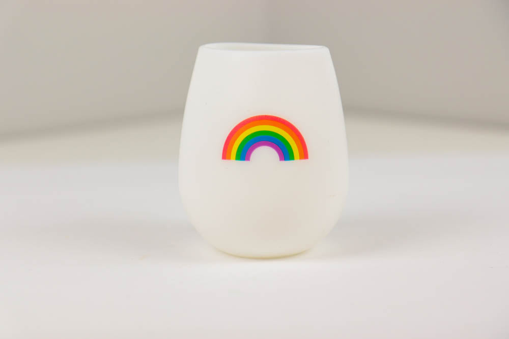 Rainbow Silicone Wine Cup