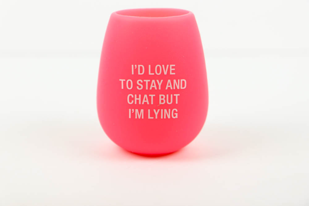 Stay n Chat Silicone Wine Cup