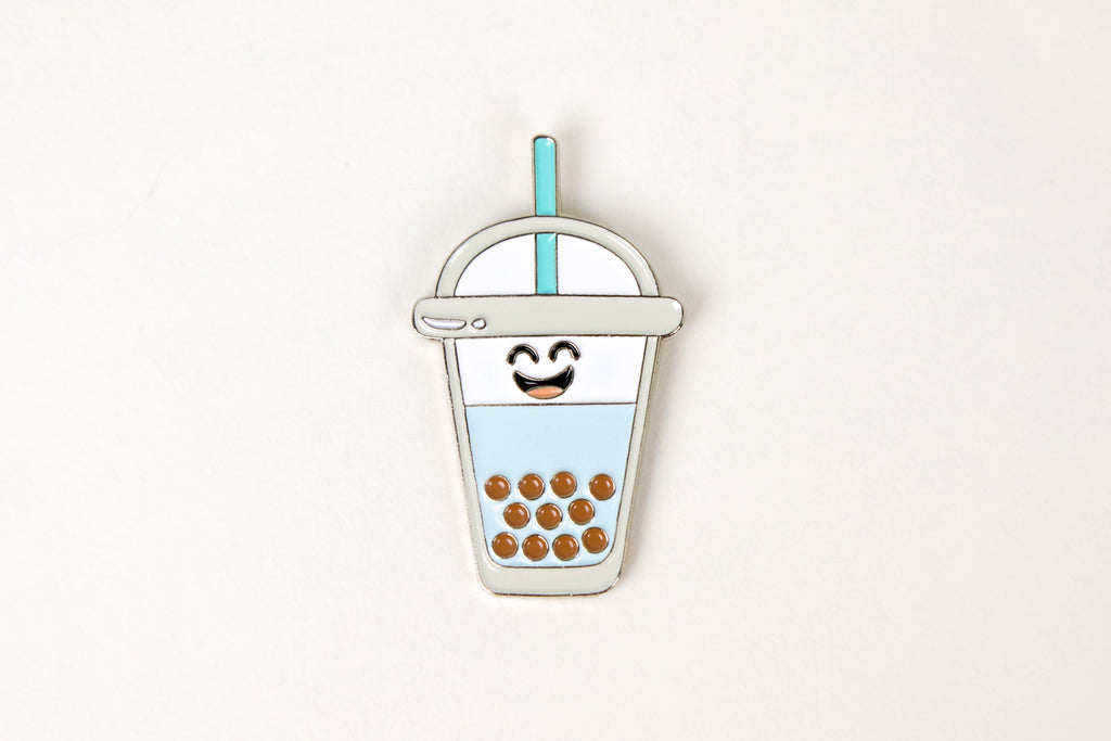 Bubble Tea Enamel Pin - Oh, Hello Stationery Co. bullet journal Erin Condren stickers scrapbook planner case customized gifts mugs Travlers Notebook unique fun