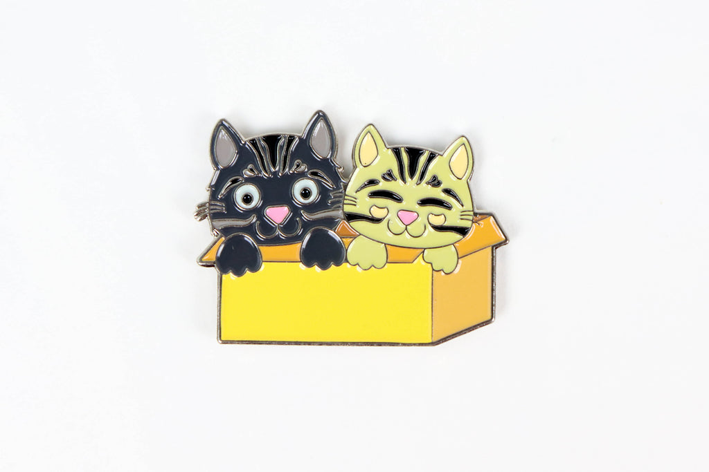 Cats in a Box Enamel Pin - Oh, Hello Stationery Co. bullet journal Erin Condren stickers scrapbook planner case customized gifts mugs Travlers Notebook unique fun