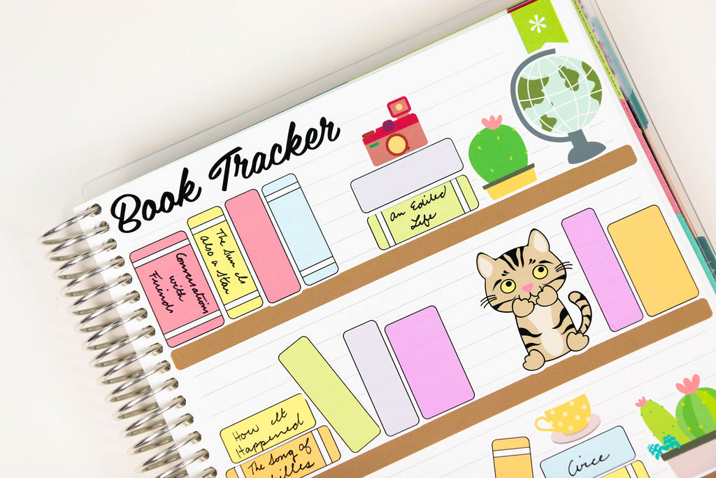 Build a Bookshelf Stickers - Oh, Hello Stationery Co. bullet journal Erin Condren stickers scrapbook planner case customized gifts mugs Travlers Notebook unique fun
