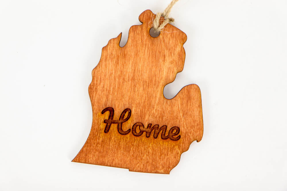 Michigan Home Laser Cut Wooden Ornament