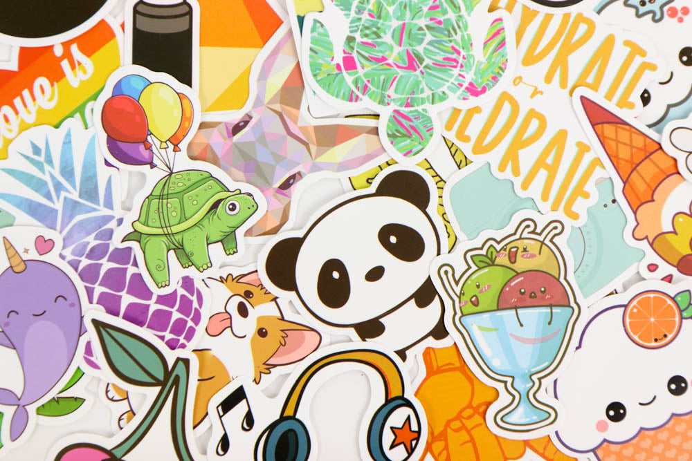 Mystery Die Cut Sticker Set - 10 Stickers