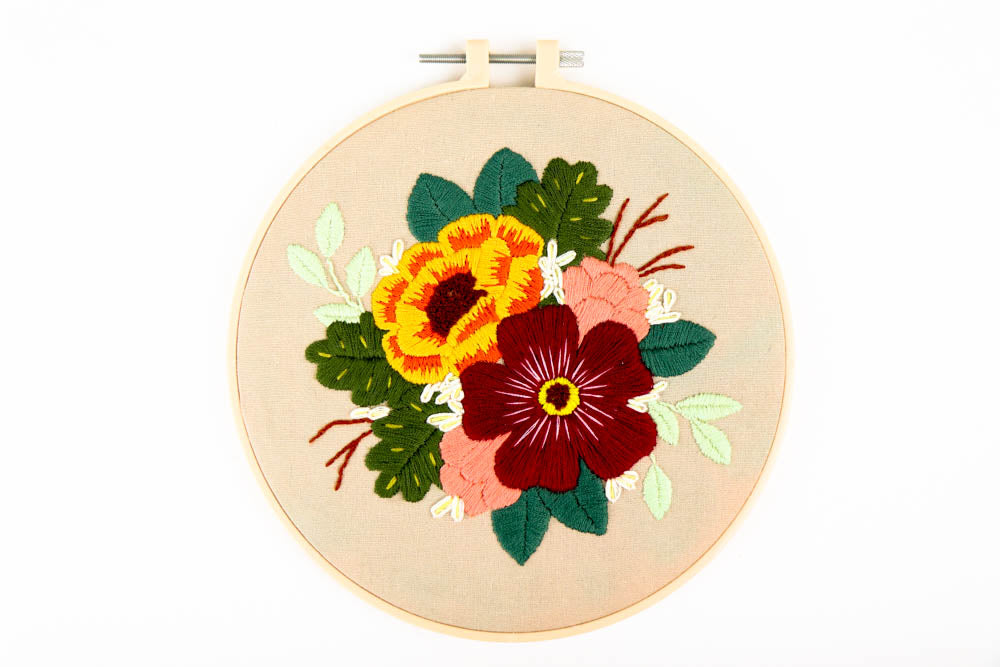 Floral Embroidery Kit - Great for Beginners