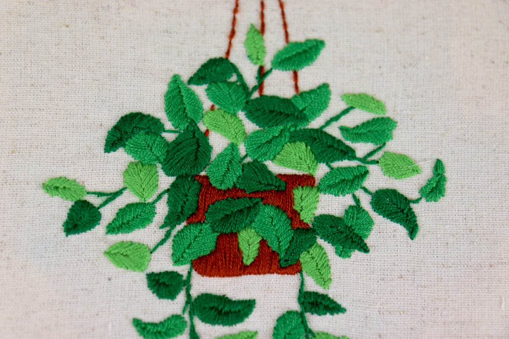Plant Embroidery Kit - Great for Beginners