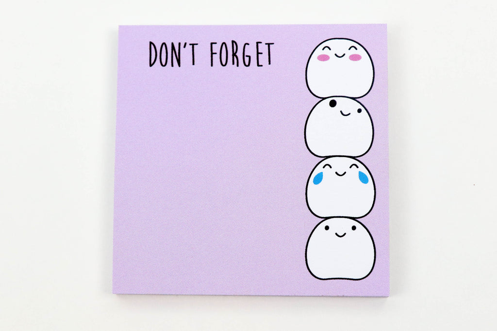 Don't Forget Blobby Sticky Notes - Oh, Hello Stationery Co. bullet journal Erin Condren stickers scrapbook planner case customized gifts mugs Travlers Notebook unique fun