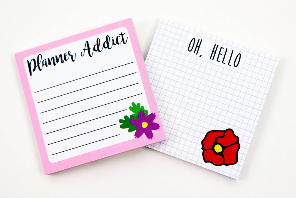 Helloigan Sticky Note Bundle - Oh, Hello Stationery Co. bullet journal Erin Condren stickers scrapbook planner case customized gifts mugs Travlers Notebook unique fun
