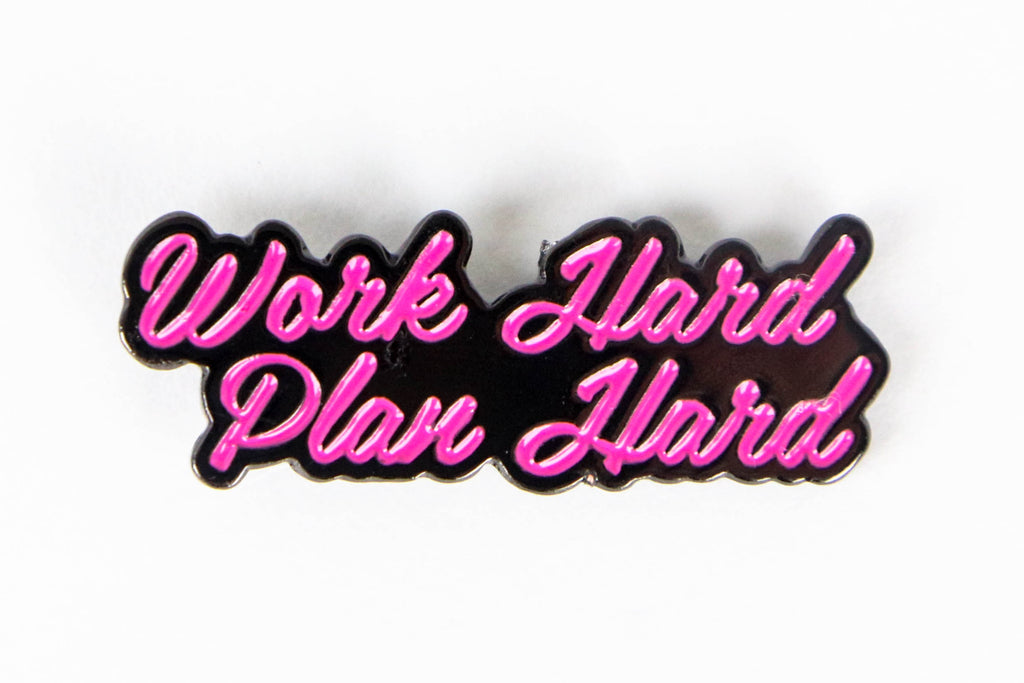 Work Hard Plan Hard Enamel Pins - 3 Color Options
