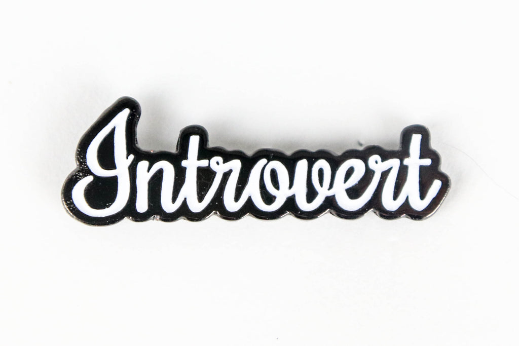Introvert Enamel Pin - Oh, Hello Stationery Co. bullet journal Erin Condren stickers scrapbook planner case customized gifts mugs Travlers Notebook unique fun