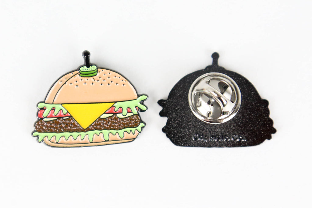 Cheese Burger Enamel Pin - Oh, Hello Stationery Co. bullet journal Erin Condren stickers scrapbook planner case customized gifts mugs Travlers Notebook unique fun