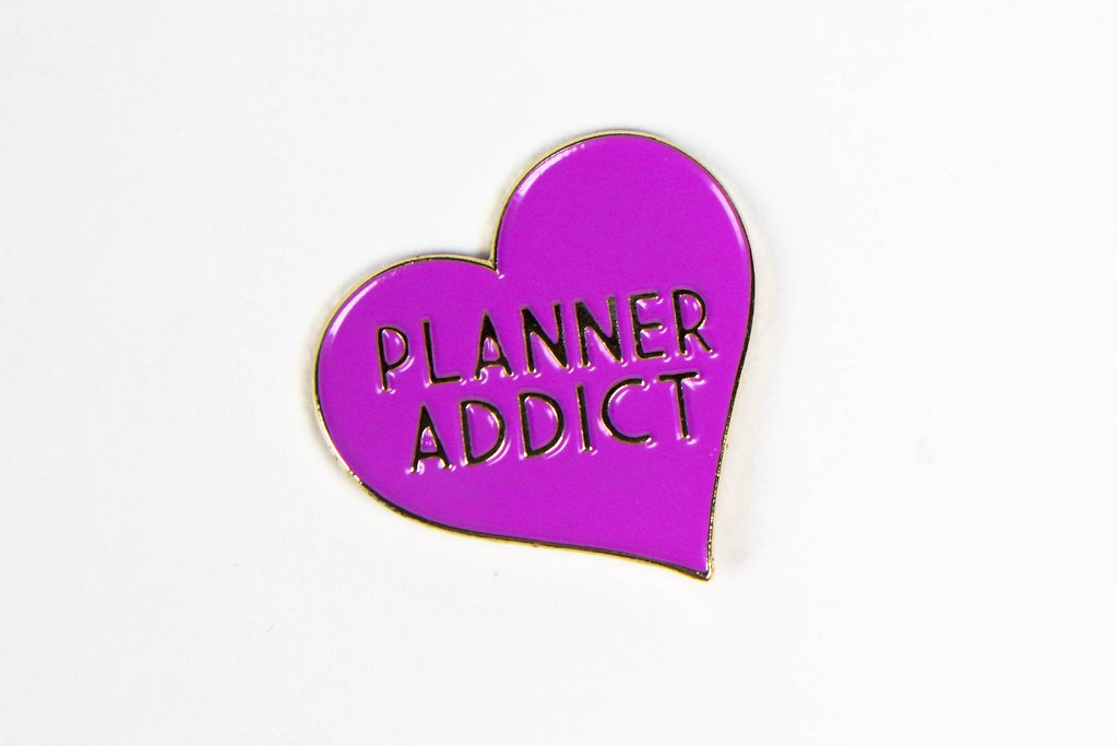 Purple Planner Addict Enamel Pin