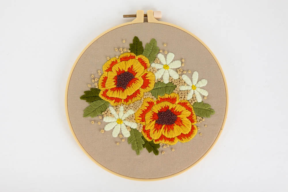 Floral Embroidery Kit 2 - Great for Beginners