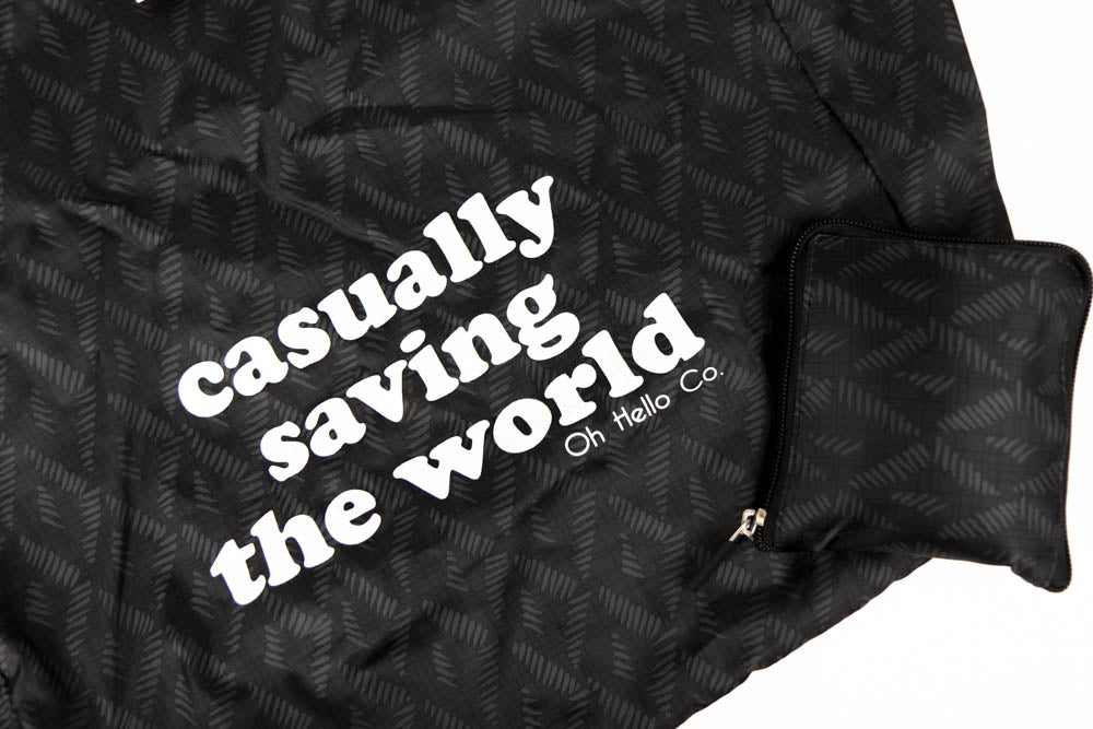 Casually Saving the World Reusable Tote