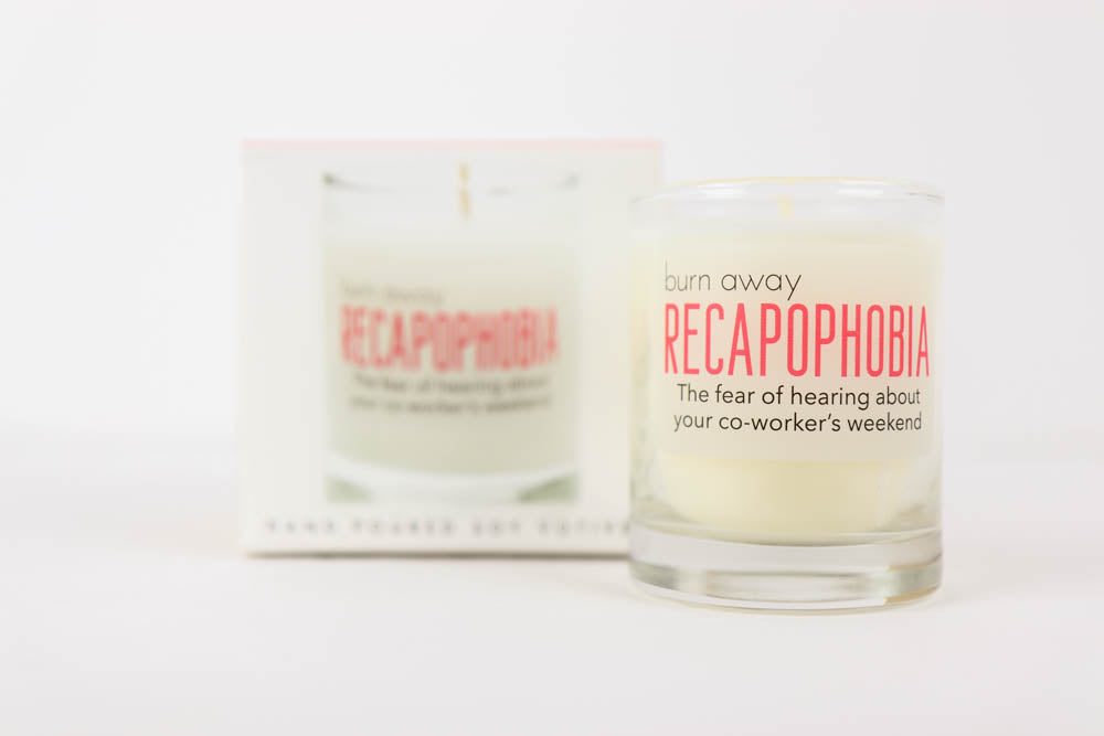 Whiskey River Phobia Candle - Recapophobia
