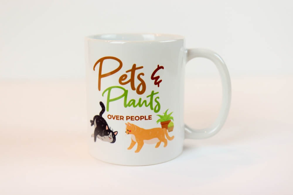 Pets & Plants Coffee Mug - Oh, Hello Stationery Co. bullet journal Erin Condren stickers scrapbook planner case customized gifts mugs Travlers Notebook unique fun