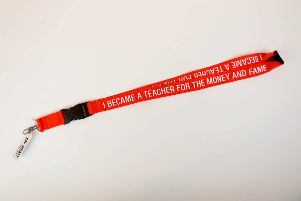 I Became a Teacher Lanyard - Oh, Hello Stationery Co. bullet journal Erin Condren stickers scrapbook planner case customized gifts mugs Travlers Notebook unique fun