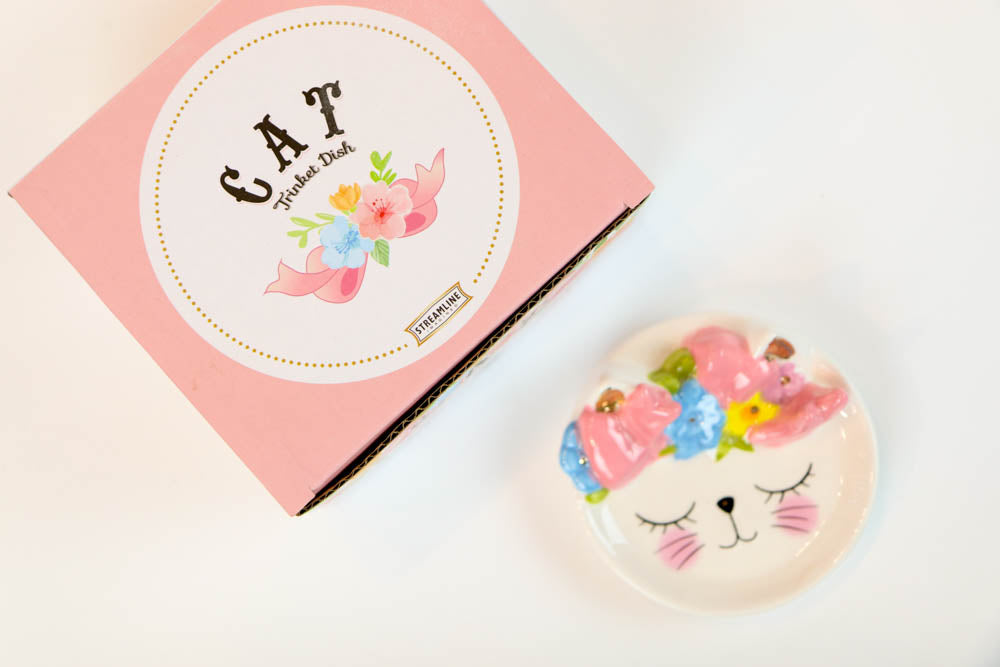 Petite Cat Trinket Dish - Oh, Hello Stationery Co. bullet journal Erin Condren stickers scrapbook planner case customized gifts mugs Travlers Notebook unique fun