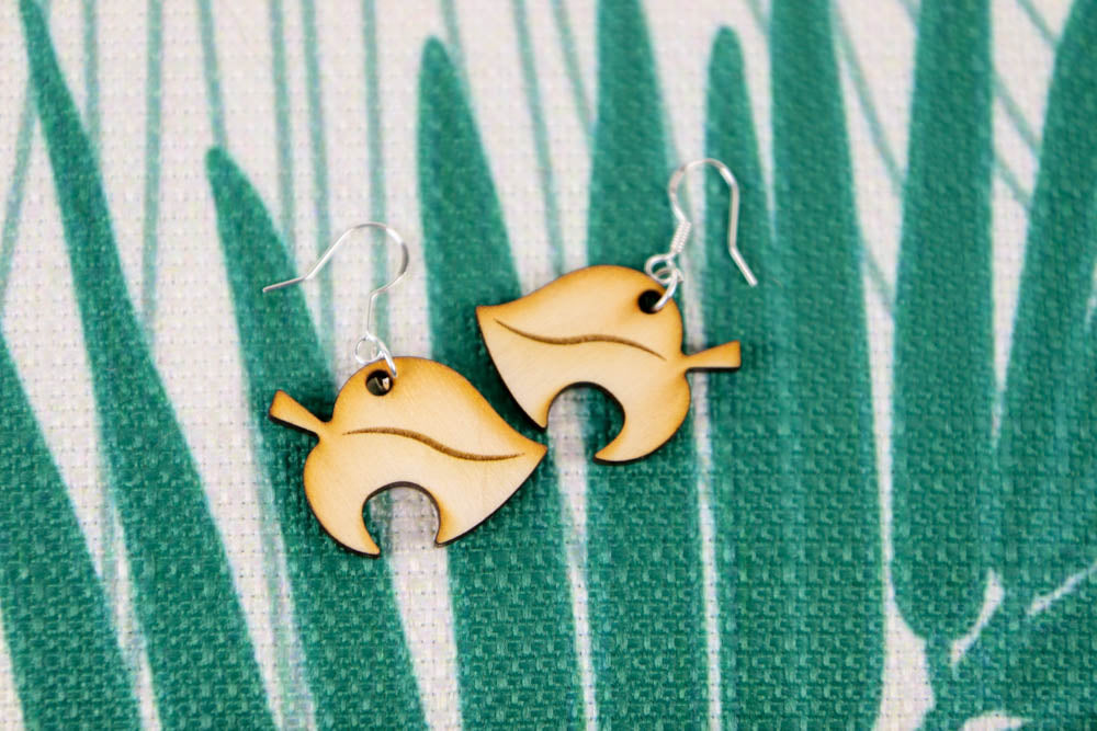 Animal Crossing Nook Leaf Earrings