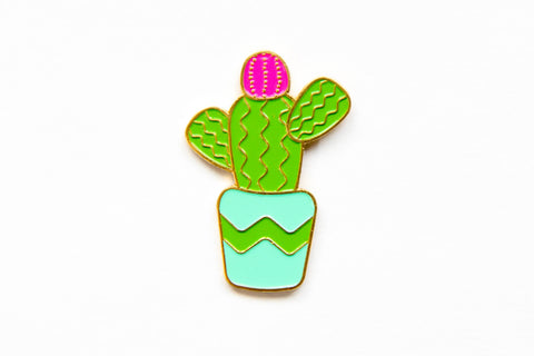 Cactus Enamel Pin - Oh, Hello Stationery Co. bullet journal Erin Condren stickers scrapbook planner case customized gifts mugs socks unique fun