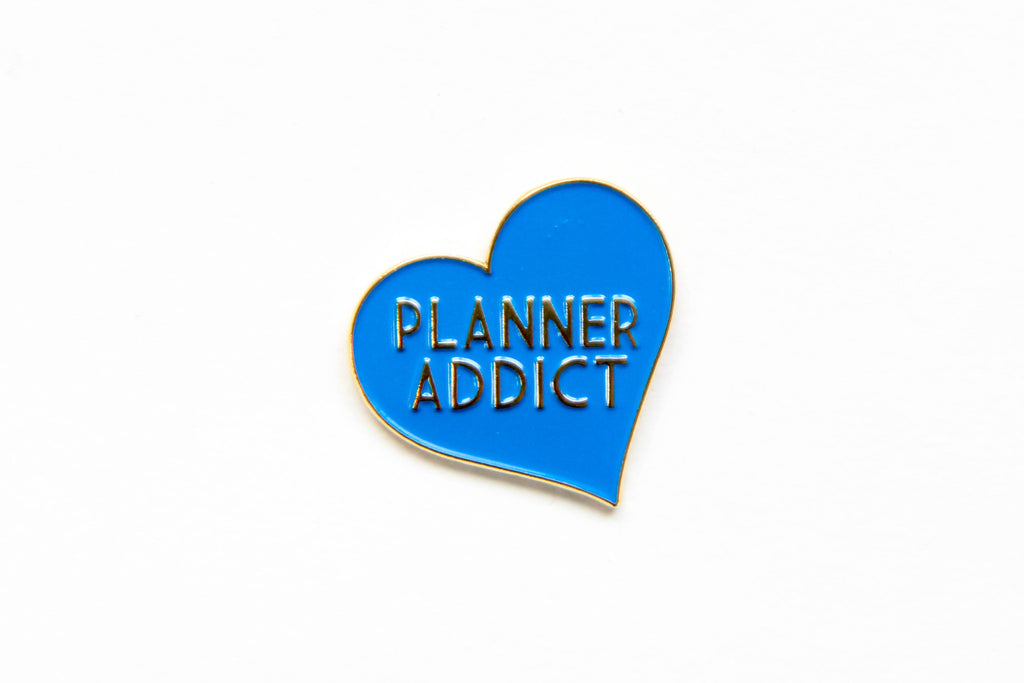 Blue Planner Addict Enamel Pin - Oh, Hello Stationery Co. bullet journal Erin Condren stickers scrapbook planner case customized gifts mugs Travlers Notebook unique fun