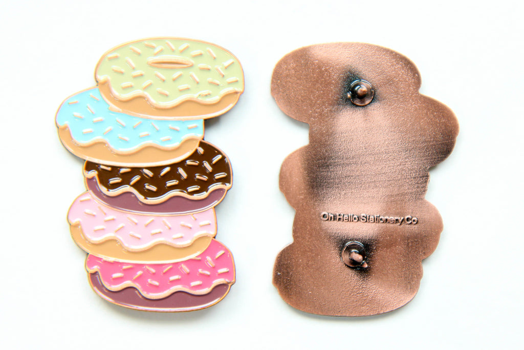 Doughnuts Enamel Pin - Oh, Hello Stationery Co. bullet journal Erin Condren stickers scrapbook planner case customized gifts mugs Travlers Notebook unique fun