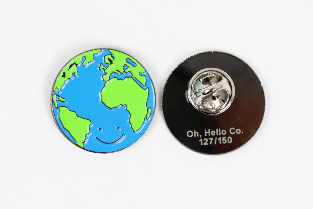 World Enamel Pin