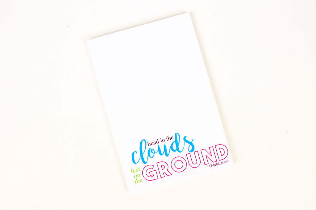Head in the Clouds Notepad - Oh, Hello Stationery Co. bullet journal Erin Condren stickers scrapbook planner case customized gifts mugs Travlers Notebook unique fun