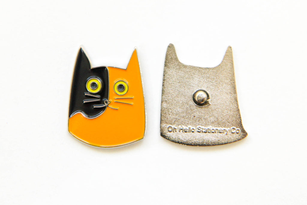 Cat Enamel Pins - Oh, Hello Stationery Co. bullet journal Erin Condren stickers scrapbook planner case customized gifts mugs Travlers Notebook unique fun