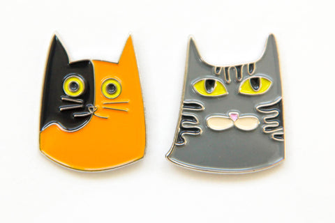 Cat Enamel Pins - Oh, Hello Stationery Co.   - 1